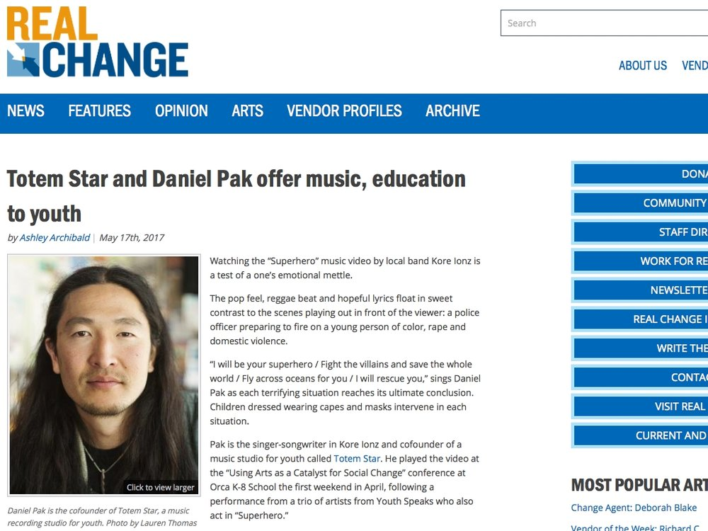 Totem Star and daniel pak offer music, education to youth - By Ashley ArchibaldMay 17, 2017