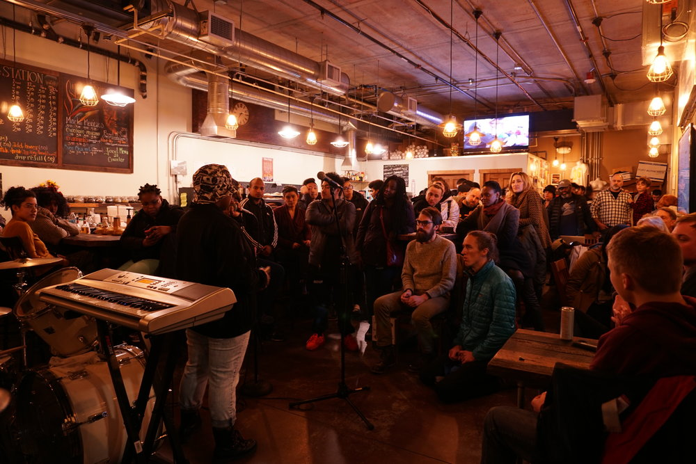 A packed house at The Station in Beacon Hill. Photo By Mary Elworth