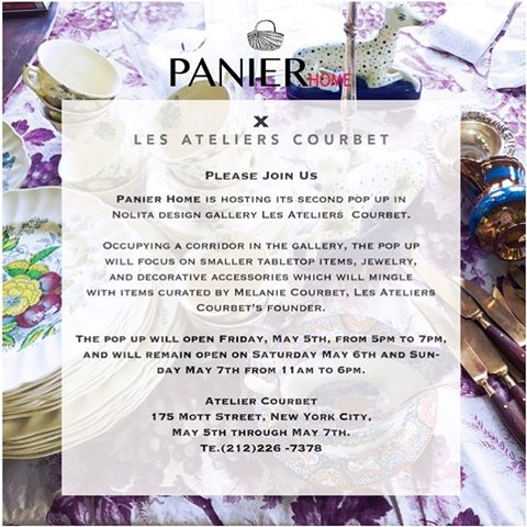 Join us at our 2nd pop up next weekend at Les Ateliers Courbet! Details above!