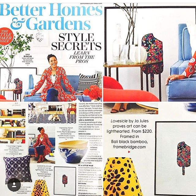 Thank you so much @betterhomesandgardens ❤@monikaeyers ❤🙏🏽 for featuring Panier Home in your September style iissue