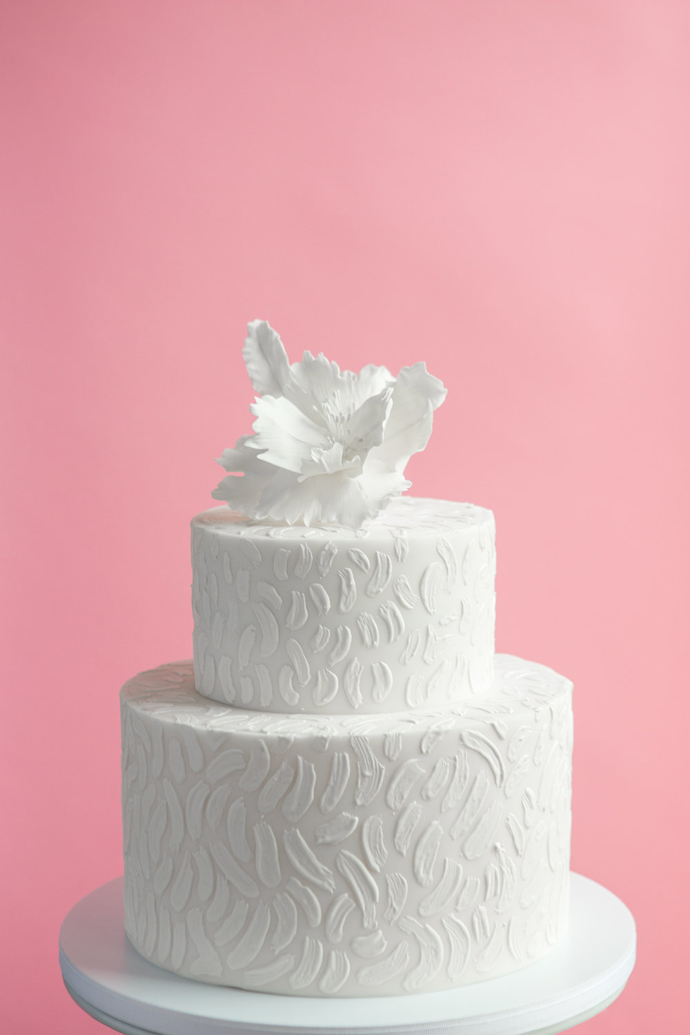 Brush Stroke Wedding Cake