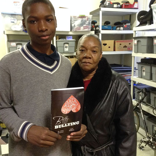 Author Angel William with his book, Better Bullying