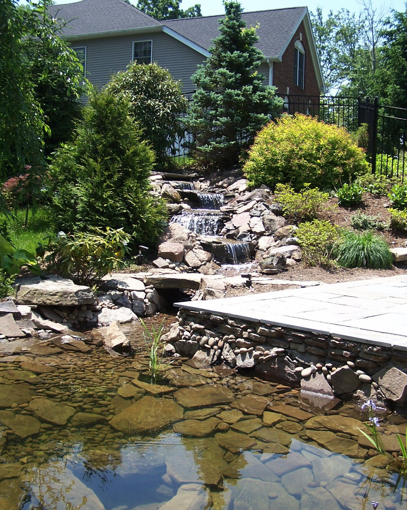 Copy of Westchester County, NY custom masonry design steps water fountain and pond