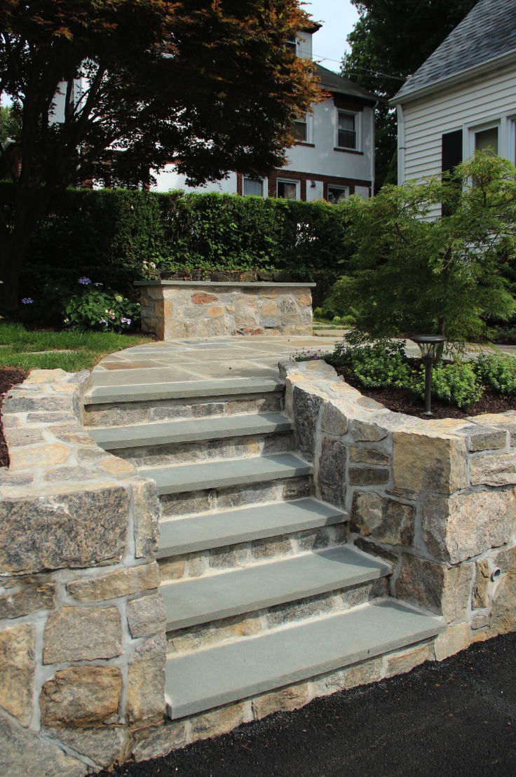 Copy of Westchester County, NY custom masonry design steps and patio