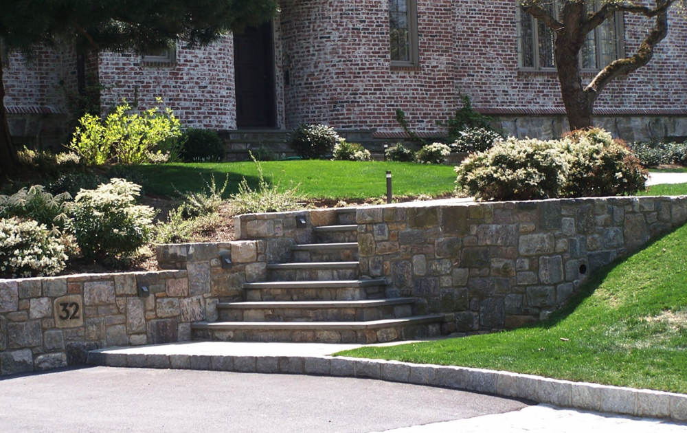 Copy of Westchester County, NY natural stone retaining wall and steps and patio