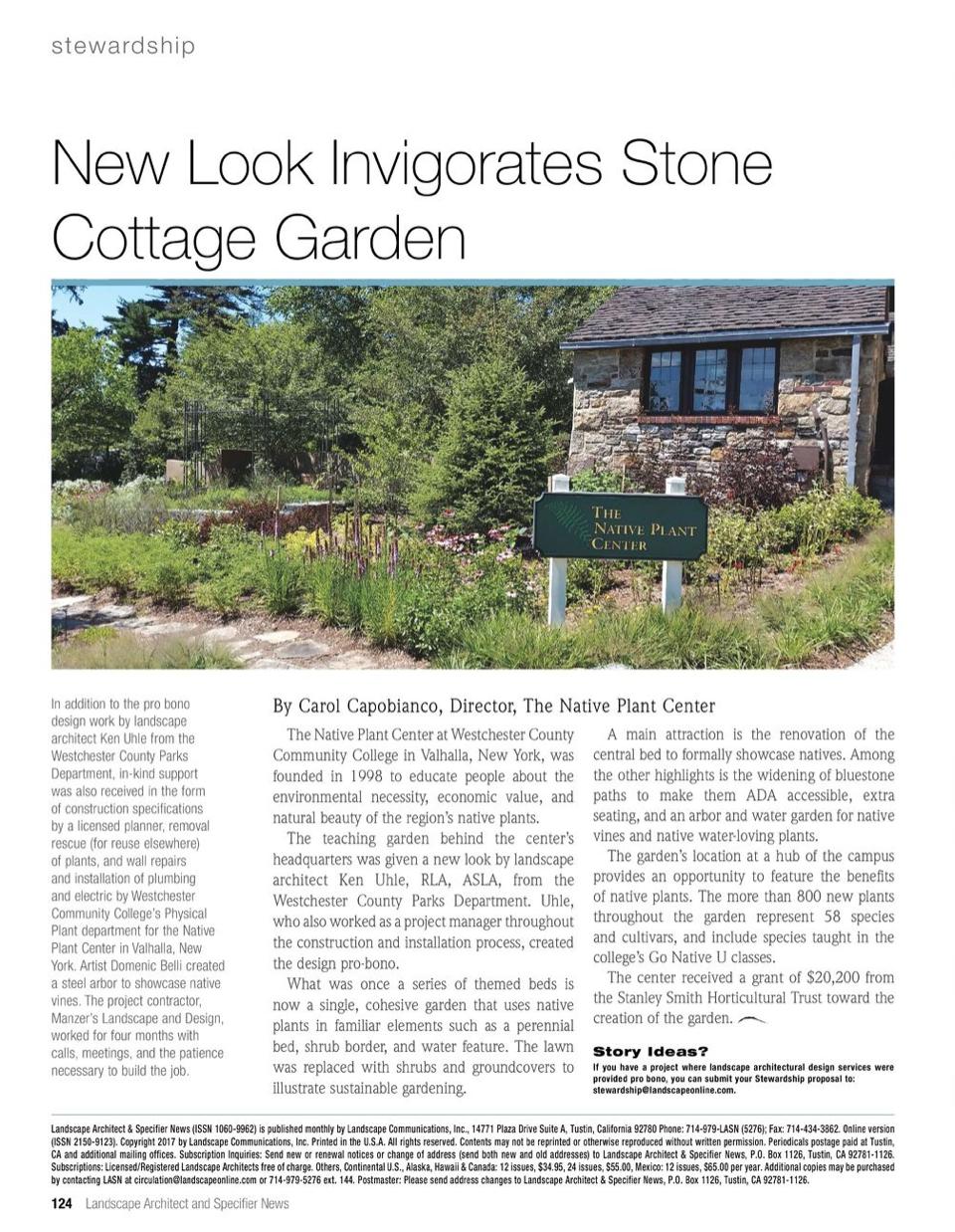 Landscape Architect and Specifier News Magazine