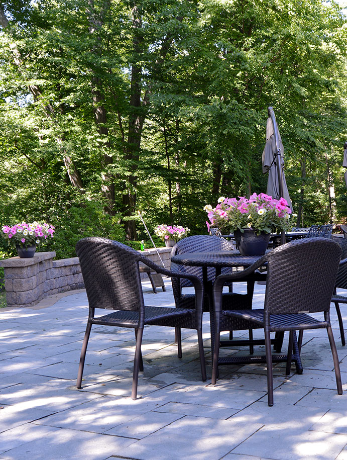 Outdoor living spaces with fire pits in Cortlandt Manor, NY