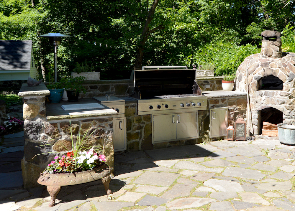 Add Character To Your Somers Outdoor Kitchen With Stone Veneer