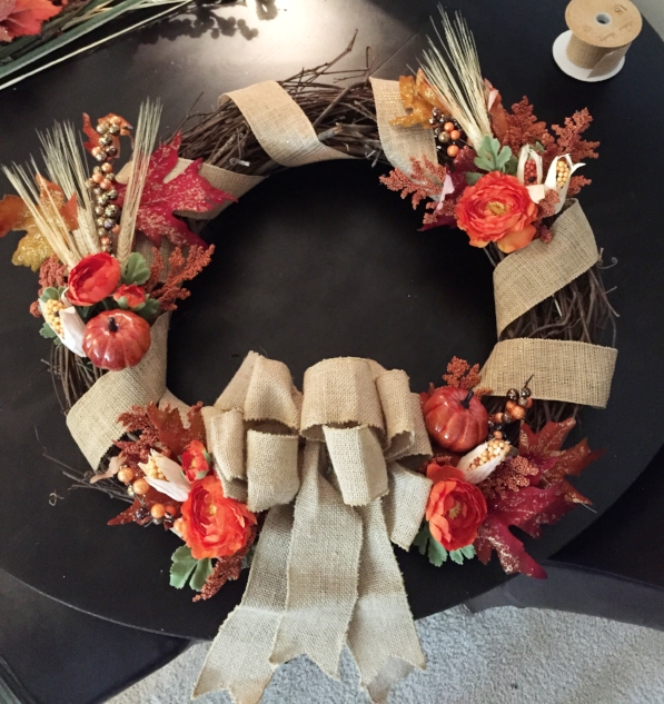 Fall Wreath Finished Product