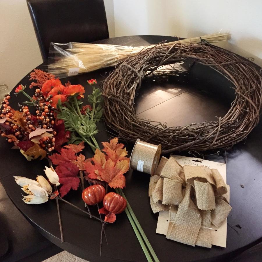 Fall Wreath Materials