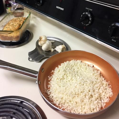 Riced Cauliflower and Coconut Flour Bread