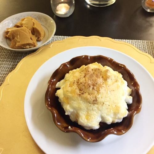 "Paleo Pumpkin Pie with Meringue and Paleo Pumpkin ""Ice Cream"""