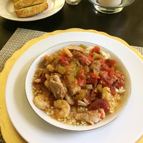 Paleo Cajun Chicken and Shrimp