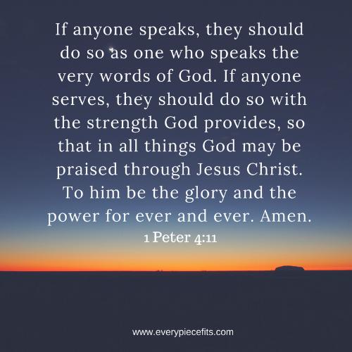 1 Peter 4:11
