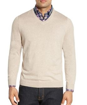Nordstrom Cotton & Cashmere V-Neck