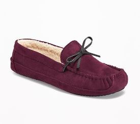 Old Navy Sueded Sherpa Moccasins