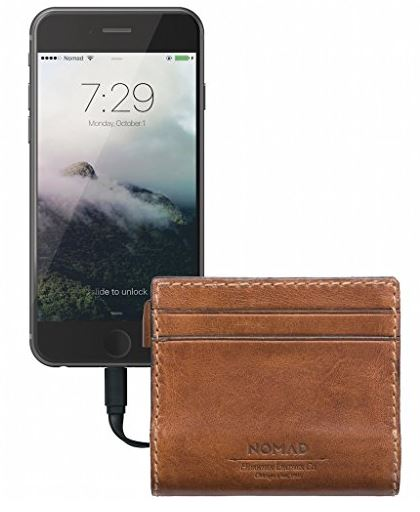 Nomad Slim Horween Leather Charging Wallet