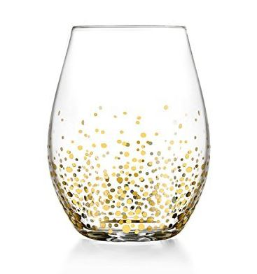 Set of 4 - Gold Luster Stemless Wine Glasses