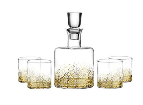 5 Piece - Gold Luster Whiskey Set