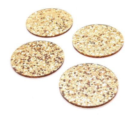 Kate Spade Glitter Coasters