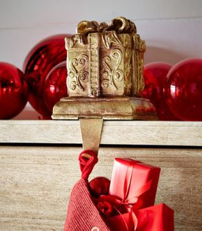 SQUARE GIFT BOX CHRISTMAS STOCKING HOLDER