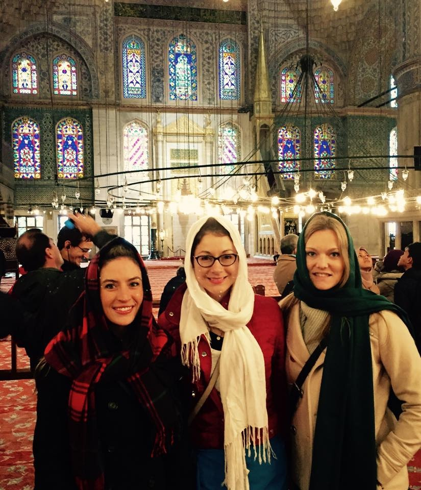 Inside the Blue Mosque - Istanbul Turkey