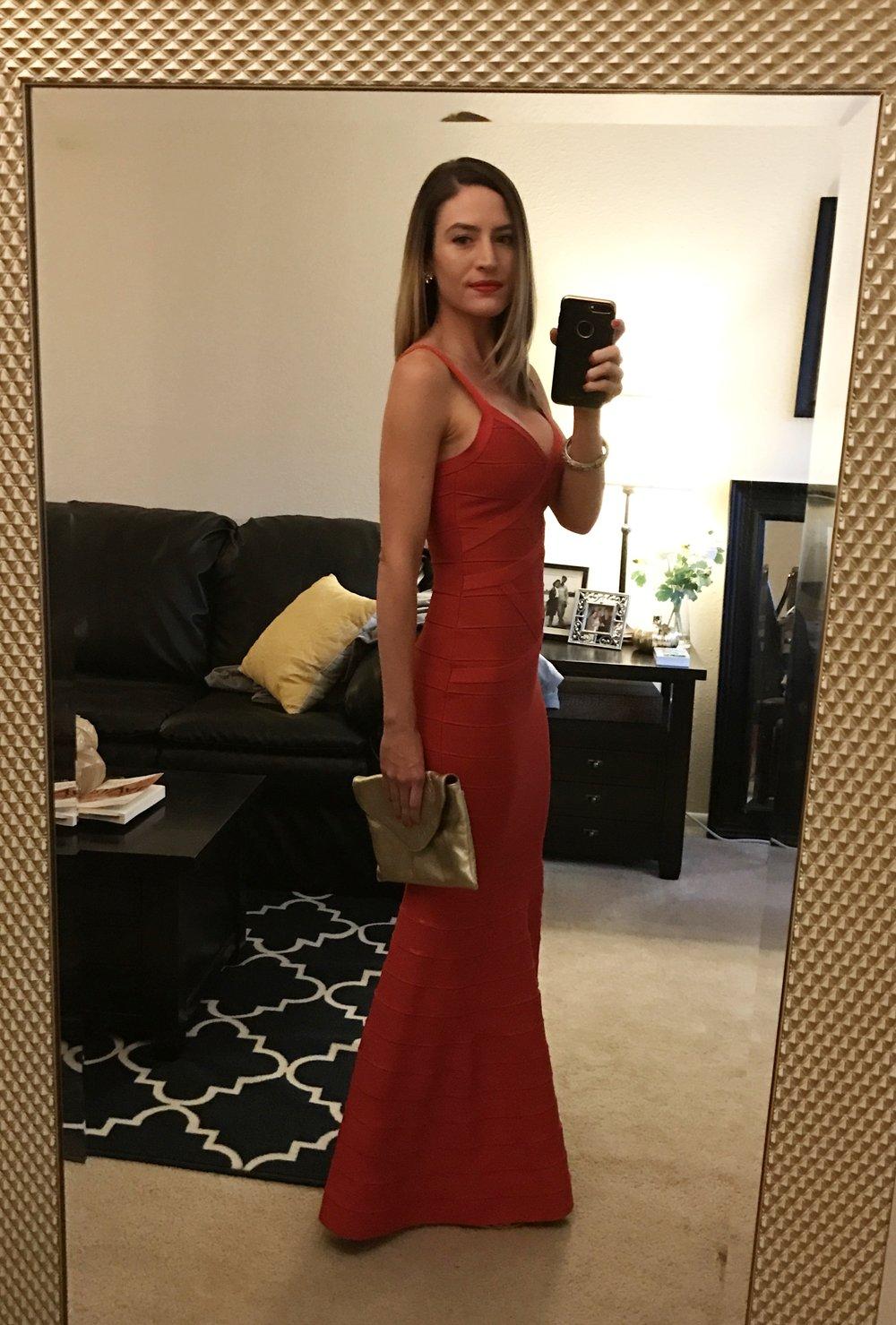 4c3b32bf10 Hego Women s V-neck Backless Fishtail Bandage Red Formal Maxi Dress Long  H2082 (XS