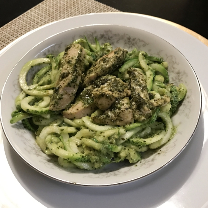Pesto Chicken Pasta - Paleo & Whole 30