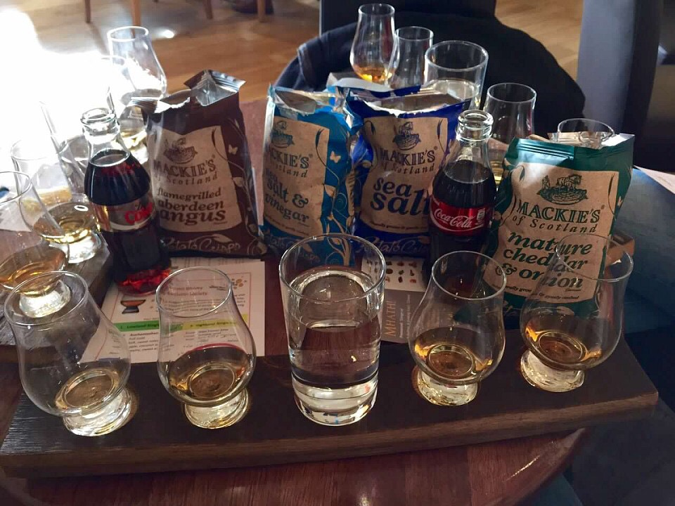 Scotch tasting in Edinburgh