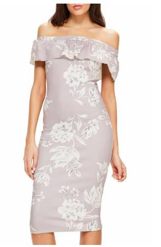 Missguided Off the Shoulder Bardot dress.JPG
