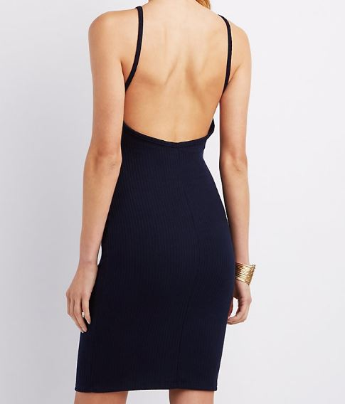 Charlotte Russe open back dress.JPG