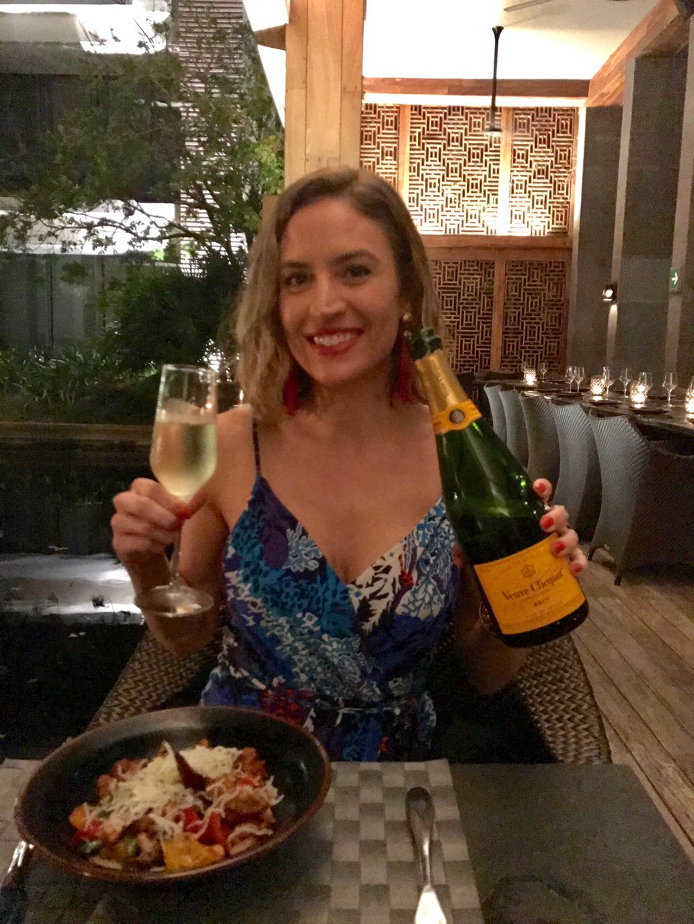 Poppin' Champagne + Paleo Dinner at Indochine
