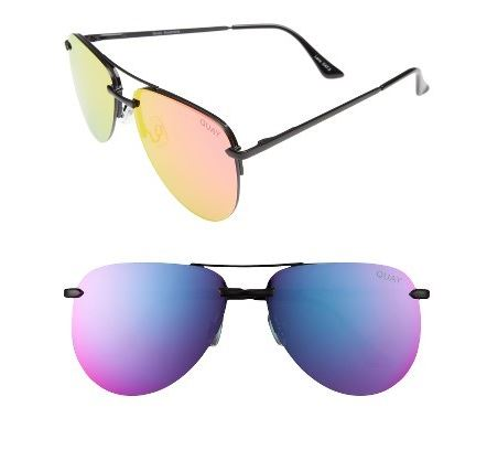 Quay Australia the Playa 64mm aviator black, pink.JPG