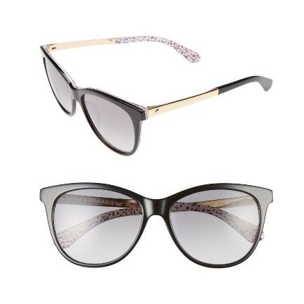 Kate Spade NY Jizelle 55mm gradient lenses cat eye black, pattern red.JPG