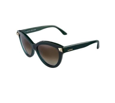 Valentino Cat Eye Rockstud sunglasses, green.JPG