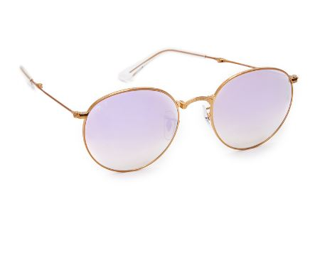 Ray-Ban round mirrored bronze, lilac gray.JPG