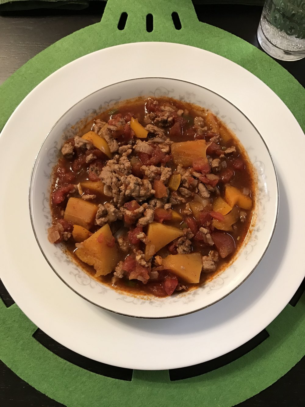 Slow Cooker Pumpkin Turkey Chili - Paleo & Whole 30