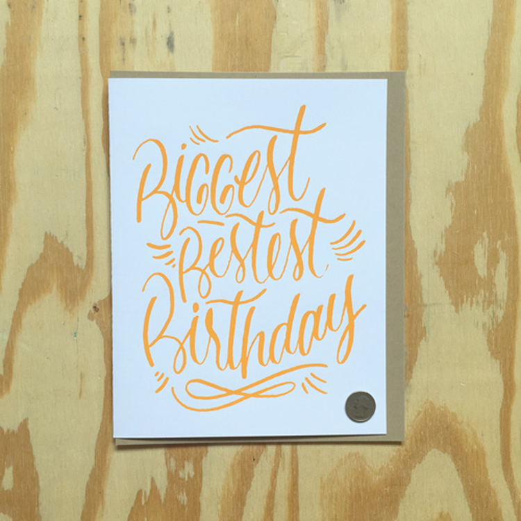 Biggest Bestest Birthday Big Card Bench Pressed