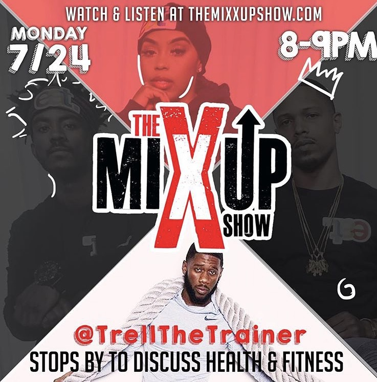 Tune in tonight from 8-pm as The Mixx Up crew discusses fitness & health lifestyles at www.themixxupshow.com