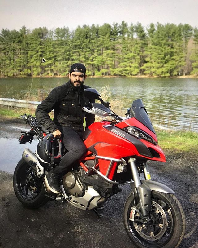 @callmefed playing around on the #multistrada but we all know he's #teamtriumph