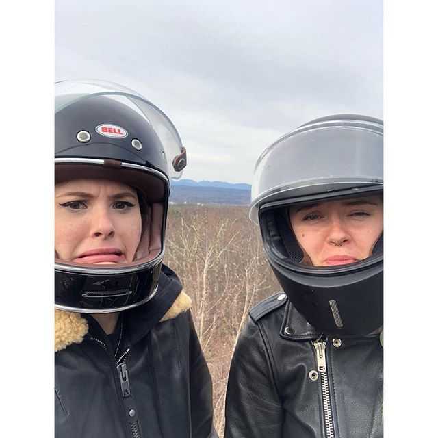 @_katlan and @hotwhiskeywater made it up north this beautiful weekend! Their faces just captures their excitement! #womenwhoride