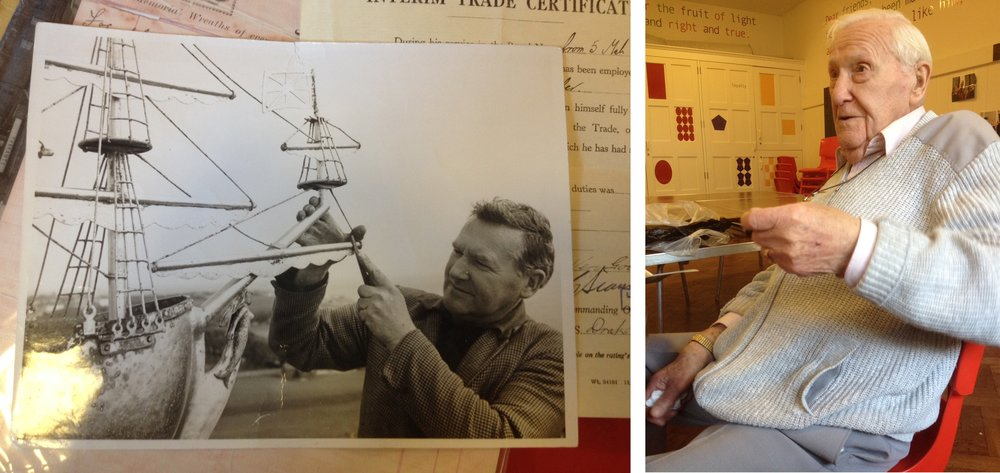 Pictured: Reg Morris in 1969 (left) and Reg Morris in 2015 (right) | Images from Portsmouth Cathedral
