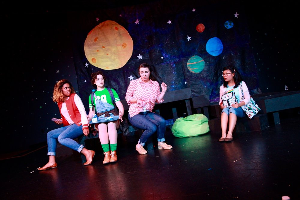 "Jasmine Thomas, Rachel Frawley, Stephanie Earle, and Shelli Delgado in ""Space Girl"""