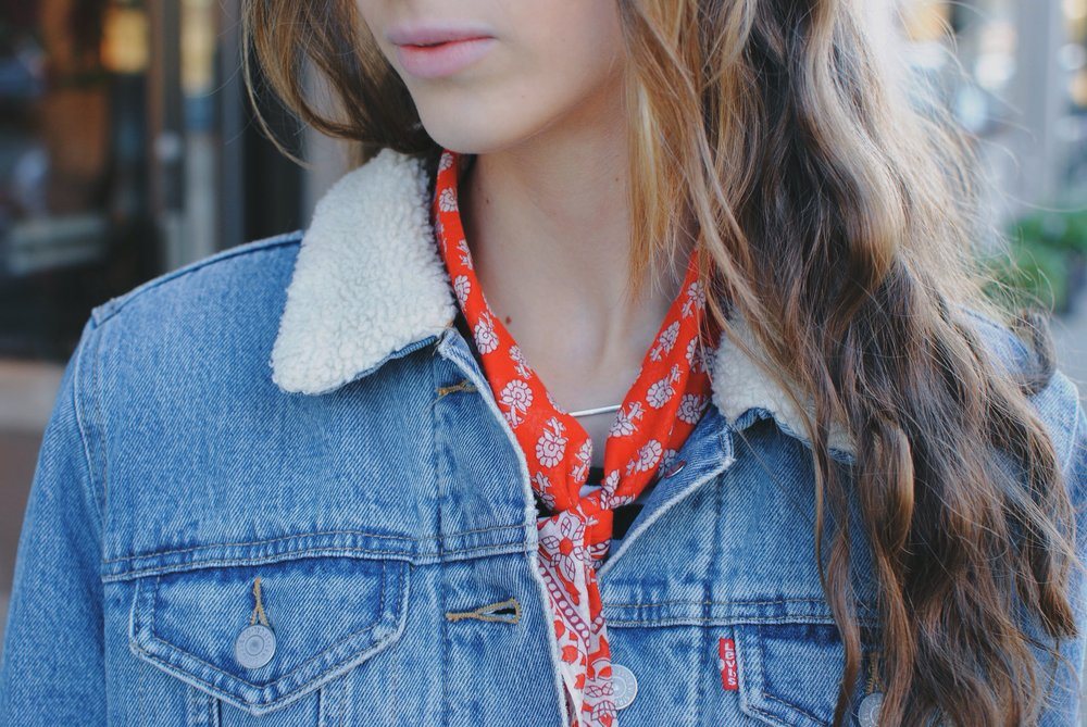 french inspired neck scarf