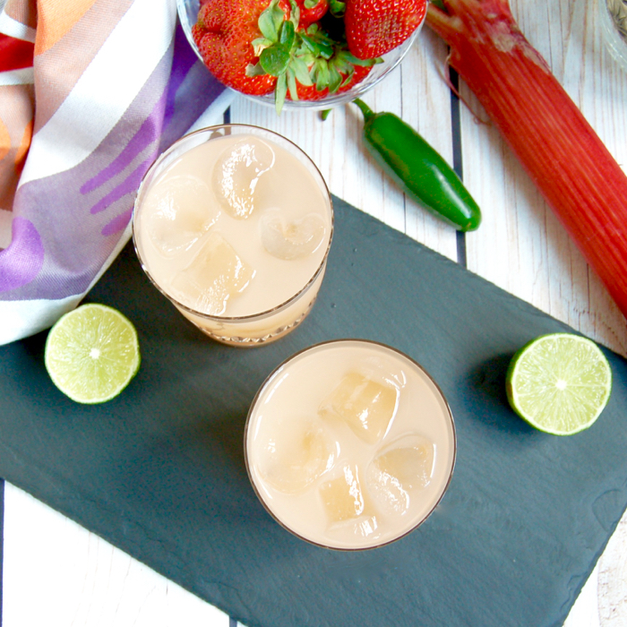 Spicy Strawberry Rhubarb Margarita - Jessica Levinson, MS, RD, CDNCulinary Nutrition Expert