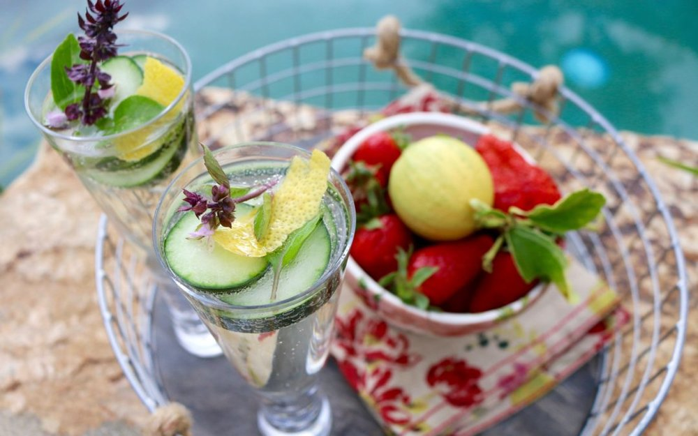 Cucumber Herb Champagne Sparkler - Sharon Palmer, RDThe Plant Powered Dietitian
