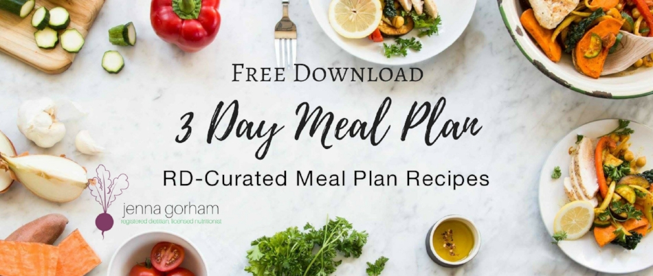 3 Day Meal Plan Free