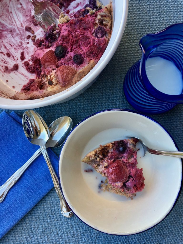Berry Cardamom Baked Oatmeal - Judy Barbe, RD