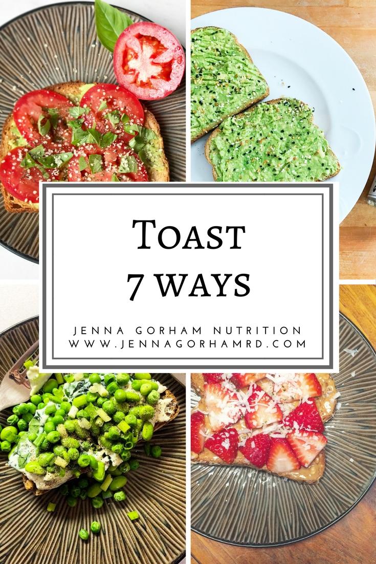 healthy toast recipes