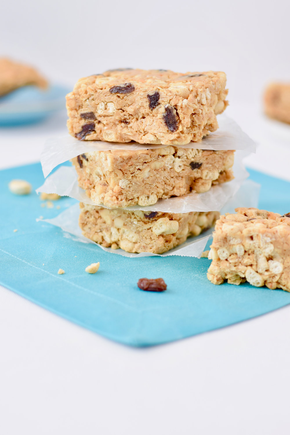 No Bake Peanut Butter Cereal Bars - Elizabeth Ward, MS, RD of Better is The New Perfect